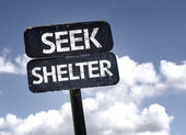 Seek Shelter sign — Stock Photo