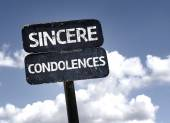 Sincere Condolences sign — Stock Photo