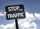 Stop the traffic   sign — Stock Photo