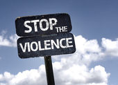 Stop the violence  sign — Stock Photo