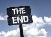 The end   sign — Stock Photo