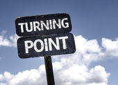 Turning Point    sign — Stock Photo