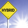 Hybrid road sign — Stock Photo #54768619
