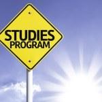 Studies program road sign — Stock Photo #54769397