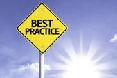 Best Practice road sign — Stock Photo