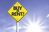 Buy or Rent? road sign — Stock Photo