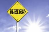 Do you Speak English? road sign — Stock Photo