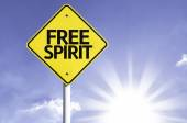 Free Spirit   road sign — Stock Photo