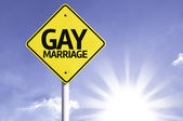 Gay Marriage   road sign — Stock Photo