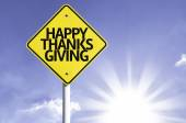 Happy thanksgiving  road sign — Foto de Stock