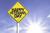 Happy veterans day  road sign — Stock Photo