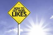 How to Get More Likes road sign — Stock Photo