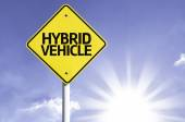 Hybrid Vehicle road sign — Stock Photo