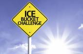 Ice Bucket Challenge road sign — Stock Photo