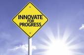 Innovate for Progress road sign — Foto de Stock