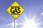 Insane Gas Prices road sign — Stock Photo