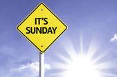 It's Sunday road sign — Stock Photo