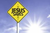 Jesus Saves road sign — Stock Photo