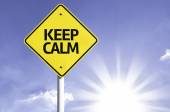 Keep Calm road sign — Stock Photo