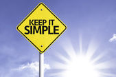 Keep it Simple road sign — Stock Photo