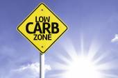Low Carb Zone road sign — Stock Photo