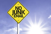 No junk email   road sign — Stock Photo