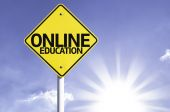 Online Education   road sign — Stock Photo