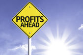 Profits Ahead  road sign — Stockfoto