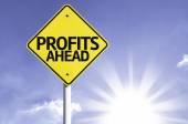 Profits Ahead  road sign — Стоковое фото