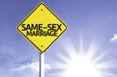 Same-sex marriage  road sign — Foto Stock