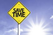 Save time  road sign — Stock Photo