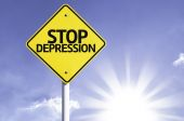 Stop Depression  road sign — Stock Photo