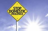 Stop domestic violence  road sign — Stock Photo