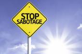 Stop Sabotage  road sign — Stock Photo