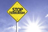 Stop terrorism  road sign — Stock Photo