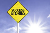 Success  Stories   road sign — Stock Photo