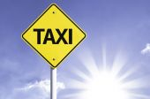 Taxi   road sign — Stock Photo