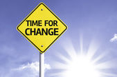 Time for change  road sign — Stock Photo