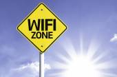 Wi Fi Zone road sign — Stock Photo