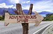 Adventurous Spirit  wooden sign — Stock Photo