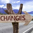 Changes wooden sign — Stock Photo #54770919