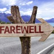 Farewell  wooden sign — Stock Photo #54771793