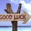 Good Luck wooden sign — Stock Photo #54772171