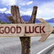 Good Luck wooden sign — Stock Photo #54772173