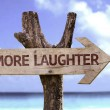 More  Laughter    wooden sign — Stock Photo #54773711