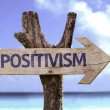 Positivism wooden sign — Stock Photo #54775001