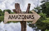 Amazonas  wooden sign — Stock Photo