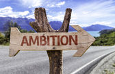Ambition  wooden sign — Stock Photo