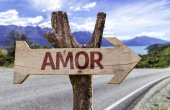 Amor  wooden sign — Stock Photo