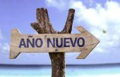 Ano Nuevo  wooden sign — Stock Photo